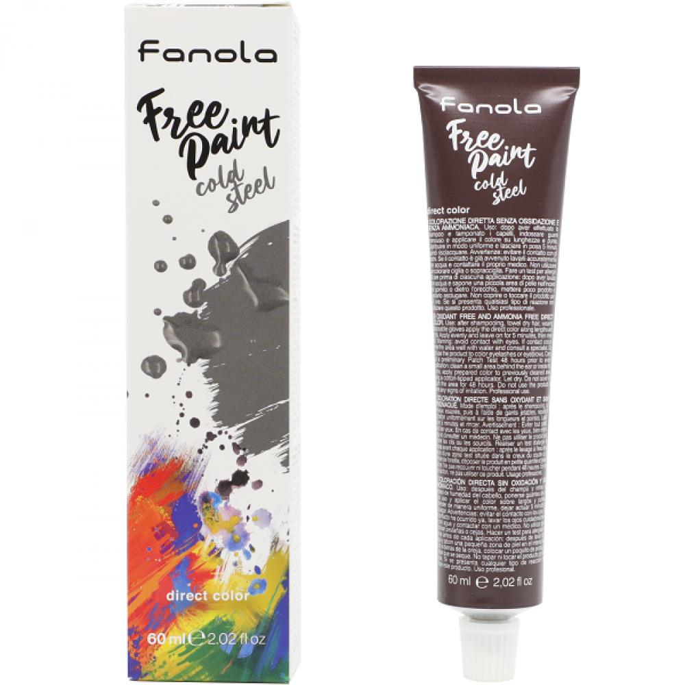 Fanola Free Paint Direct Colour Cold Steel - 60ml