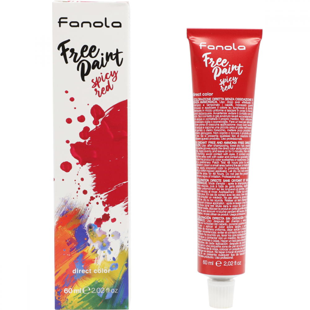 Fanola Free Paint Direct Colour Spicy Red - 60ml